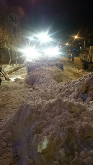 بارش برف و بسیج امکانات شهرداری کبودراهنگ + تصاویر