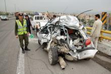 دو کشته و یک زخمی در تصادف محور کبودراهنگ -زنجان
